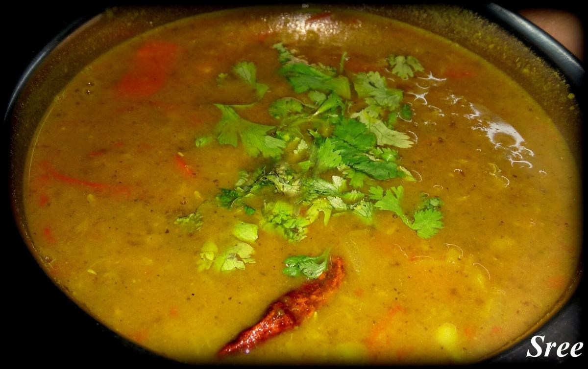 Easy Tiffin Sambar (In pressure cooker)