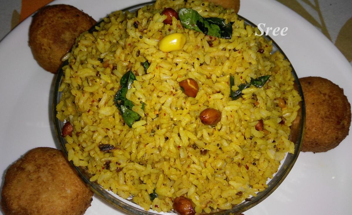 Instant Puliyodharai (Temple Taste Tamarind Rice in 3 minutes)