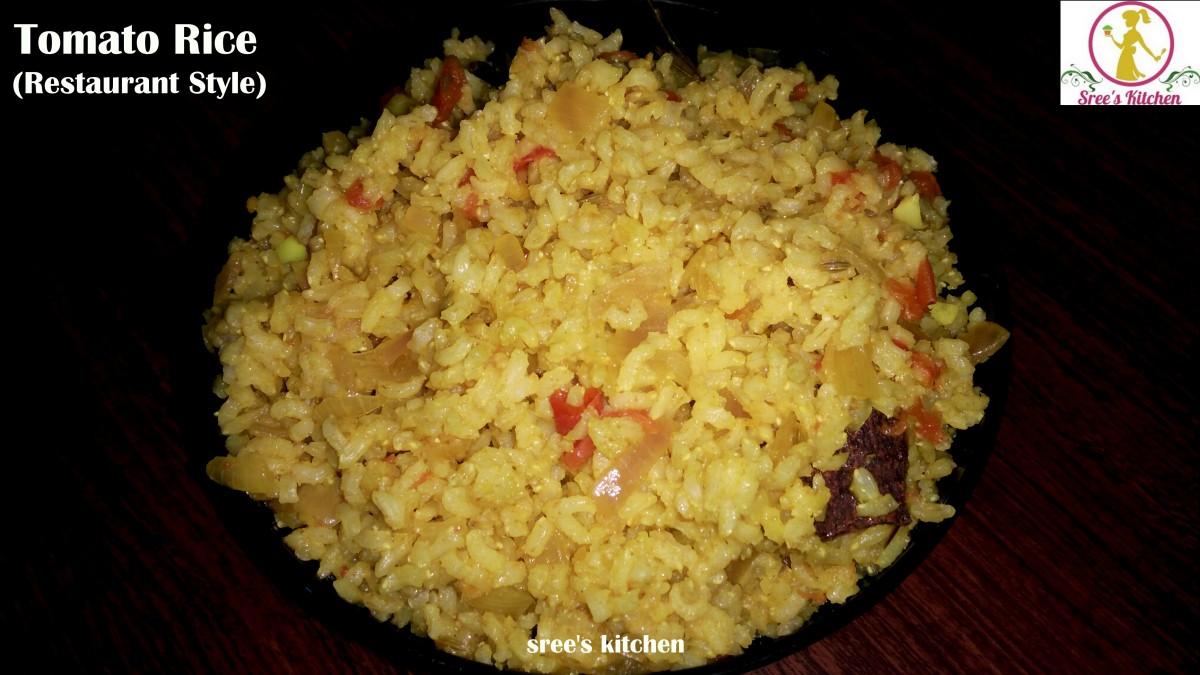 Tomato rice (Restaurant Style)