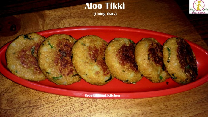 aloo tikki using oats