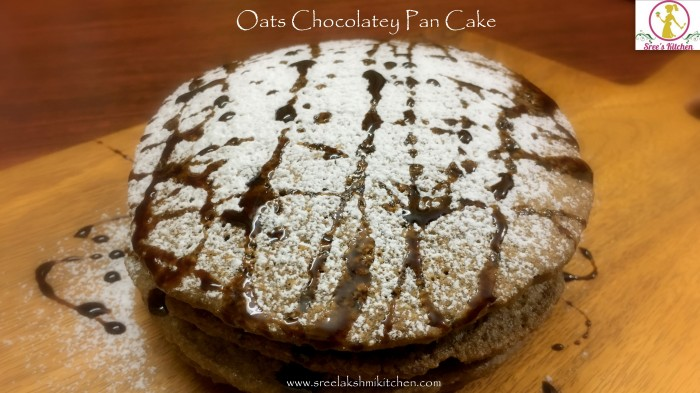 oats chocolatey pan cake