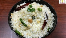coconut rice, variety rice, coconut rice recipe, coconut variety rice, fresh coconut rice