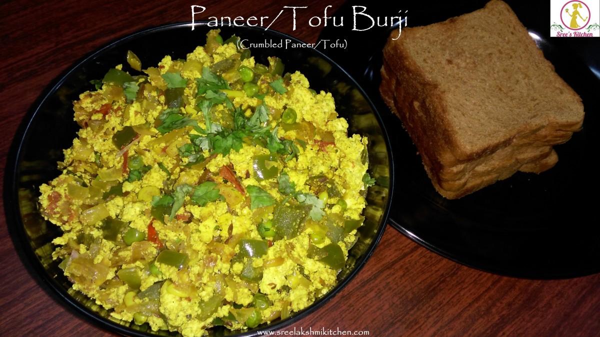Paneer/Tofu Burji (Crumbled Paneer/Tofu)