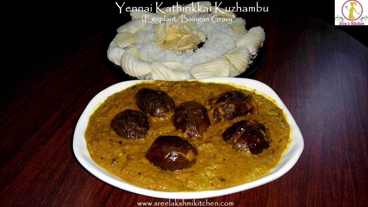 Yennai Kathirikkai (Baingan/Eggplant Gravy)