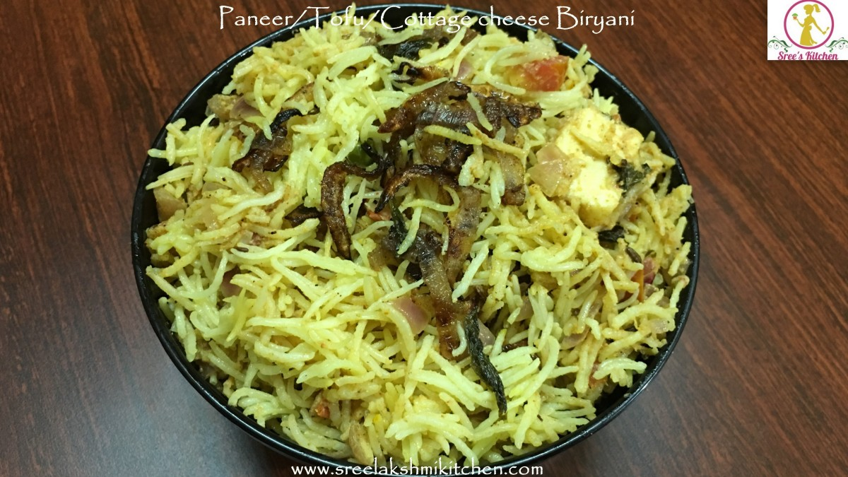 Paneer biryani recipe| Tofu biryani recipe |Cottage cheese Biryani