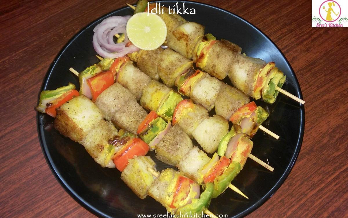 Idli tikka recipe | Idli veg kebab recipe