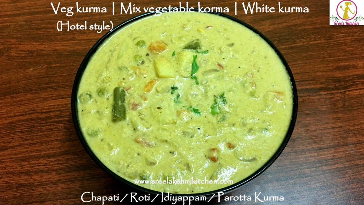 Veg kurma hotel style | mix veg korma recipe | Vegetable kurma | white kurma recipe