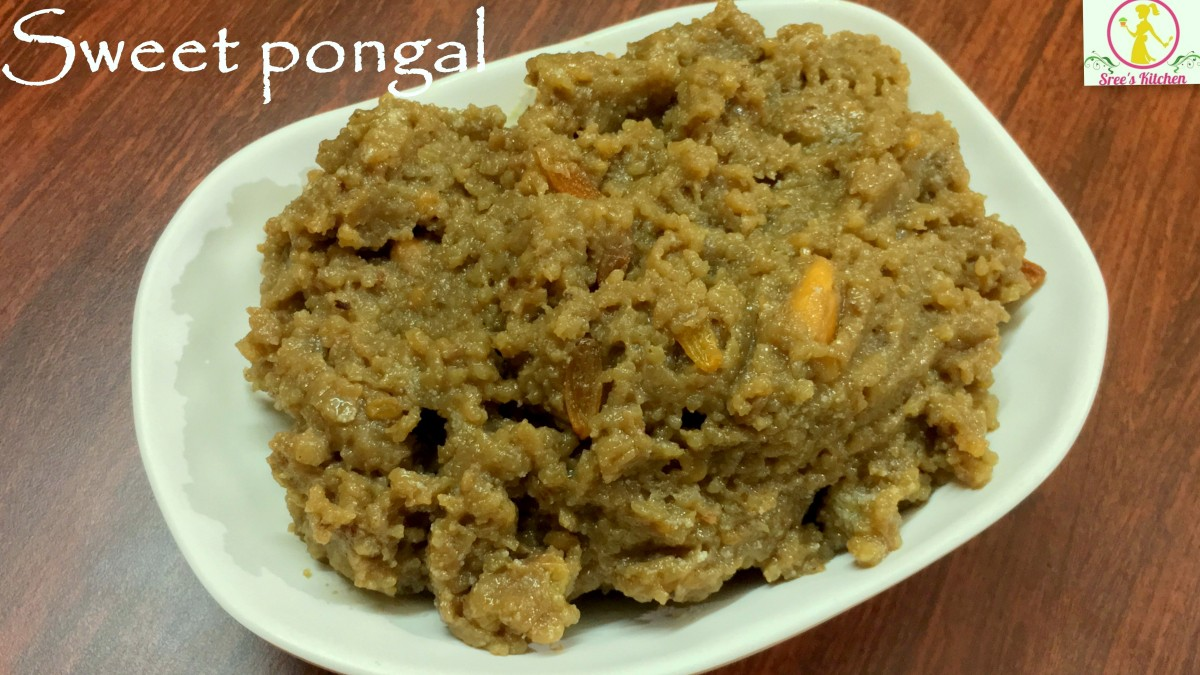 Sweet pongal in cooker| sakkarai pongal | how to make chakkara pongal | पोंगल | பொங்கல்