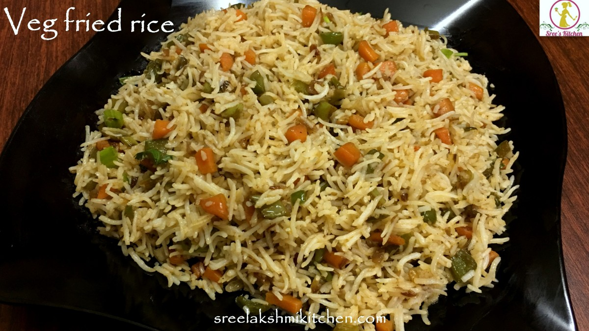Veg fried rice | chinese fried rice recipe | how to make fried rice at home | வெஜ் பிரைட் ரைஸ் | वेज फ्राइड राइस