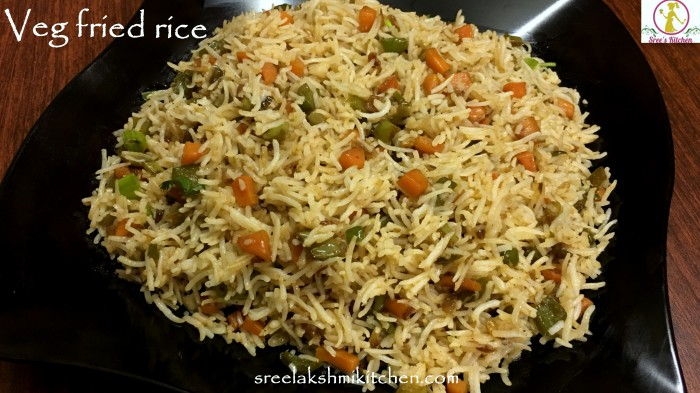 veg fried rice, quick veg fried rice, quick fried rice, veg fried rice recipe, vegetable fried rice