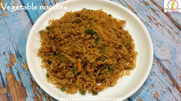 Veg noodles, vegetable noodles recipe