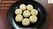 quick coconut ladoo, instant coconut ladoo, simple coconut ladoo, tasty coconut ladoo, nariyal ladoo